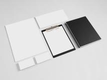 Uppsättning av att brännmärka mallar för företags design med Royaltyfri Foto