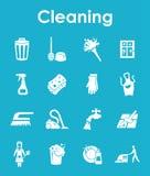 Uppsättning av att göra ren enkla symboler Royaltyfri Foto