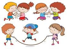 Uppsättning av att spela för barn vektor illustrationer