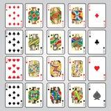 Uppsättning av att spela kort: Tio stålar, drottning, konung, Ace Royaltyfria Bilder