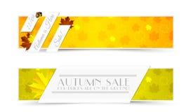 Uppsättning av Autumn Banners Royaltyfri Foto