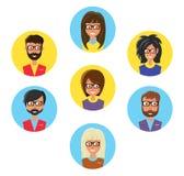 Uppsättning av avatars vektor illustrationer