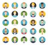 Uppsättning av avatars Vektorillustration, plana symboler Arkivbild