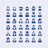 Uppsättning av avatarsymboler stock illustrationer