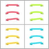 Uppsättning av böjliga band för färgrik vektor Fotografering för Bildbyråer