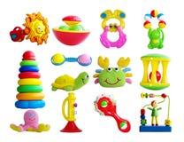 Uppsättning av babys leksaker royaltyfria bilder