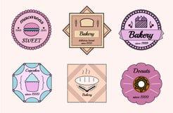 Uppsättning av bagerilogoer Royaltyfri Foto