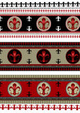 Uppsättning av bakgrunder med heraldiska symboler Royaltyfri Fotografi
