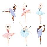 Uppsättning av balettdansörer Arkivbild