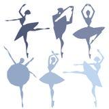 Uppsättning av balettdansörer Arkivbilder