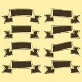 Uppsättning av banerband Hand dragen stil vektor illustrationer