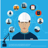 Uppsättning av bensin för olja för bil för station för gasbränsle Arkivfoto