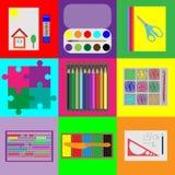 Uppsättning av beståndsdelar för barns utveckling Royaltyfri Fotografi