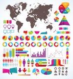 Uppsättning av beståndsdelar för infographic Fotografering för Bildbyråer