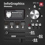 Uppsättning av beståndsdelar för infographics i UI-stil Arkivfoton