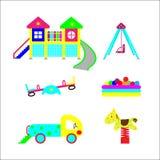 Uppsättning av beståndsdelar på barns utveckling Royaltyfri Fotografi