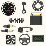 Uppsättning av bilreservdelar Fotografering för Bildbyråer