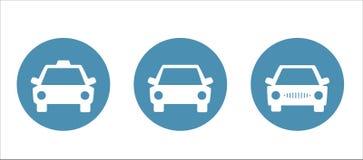 Uppsättning av bilsymboler Stock Illustrationer