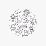 Uppsättning av bilutrustning Arkivfoto