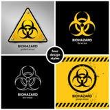 Uppsättning av biohazardsymboler Arkivfoton