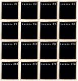 Uppsättning av Blackboards för en jaga arkivfoton