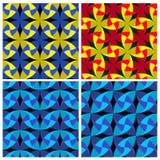 Uppsättning av bladmodellen för fyra färg Arkivfoto