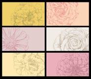 Uppsättning av blommor Royaltyfria Foton