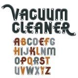 Uppsättning av bokstäver för engelskt alfabet för kall vektor isolerade upper-case Arkivbild