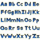 Uppsättning av bokstäver, knappar Arkivbild