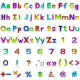Uppsättning av bokstäver och nummer, knappar Royaltyfri Fotografi