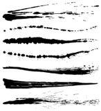 Uppsättning av borsteslaglängdlinjer Royaltyfri Fotografi