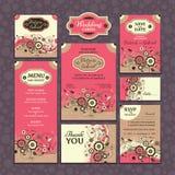 Uppsättning av bröllopkort Royaltyfria Foton