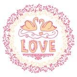 Uppsättning av bröllopprydnader och dekorativa beståndsdelar Royaltyfri Fotografi
