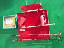 Uppsättning av brand - släckning av hjälpmedel Arkivfoton