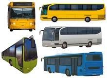 Uppsättning av bussar Royaltyfria Foton