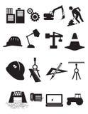 Uppsättning av byggande av Simbols i plan design vektor illustrationer