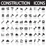 Uppsättning av byggande av Simbols i plan design Arkivbilder