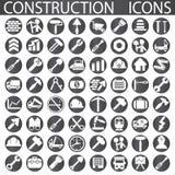 Uppsättning av byggande av Simbols i plan design Royaltyfri Foto