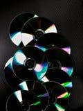 Uppsättning av CD arkivbild