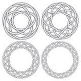 Uppsättning av celtic knyta cirklar Arkivfoto