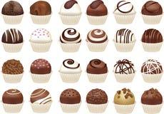 Uppsättning av chokladgodisar Royaltyfri Bild