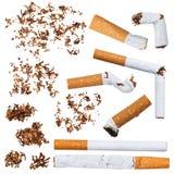 Uppsättning av cigaretter Royaltyfria Foton