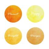 Uppsättning av cirkelbaner också vektor för coreldrawillustration brun orange guling Arkivfoton