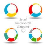 Uppsättning av cirkeldiagram Arkivfoto