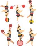 Uppsättning av cirkusen stock illustrationer