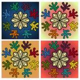 Uppsättning av Colorfull modeller royaltyfri illustrationer
