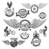 Uppsättning av cykelemblem Royaltyfria Bilder