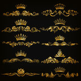 Uppsättning av damast prydnader Royaltyfri Foto