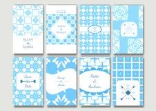 Uppsättning av de dekorativa kortmallarna Royaltyfria Foton