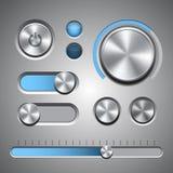 Uppsättning av de detaljerade UI-beståndsdelarna Royaltyfri Bild